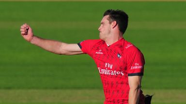 Mitchell McClenaghan: New Zealander had eventful Lancashire debut
