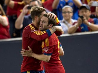 Juan Mata made sure of the win for Spain
