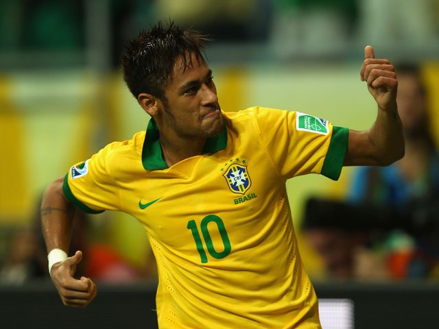 Neymar was on target again for Brazil