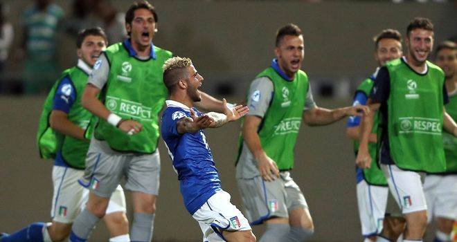 Lorenzo Insigne: Celebrates his winner