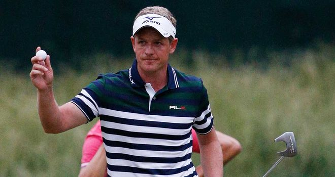 Luke Donald: Finished opening day as the leader of the US Open