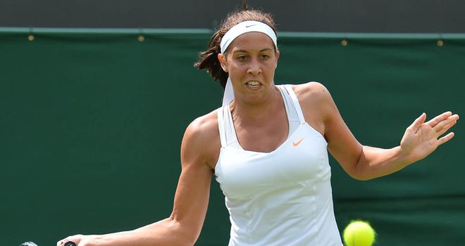 Madison Keys: dropped just four games during first-round win in Stanford