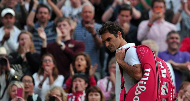 Roger Federer: Departs after his shock exit at Wimbledon