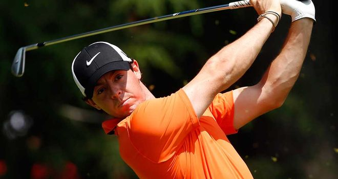 Rory McIlroy: Happy with position heading into the weekend