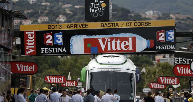 Confusion abounded after the Orica-GreenEdge bus was trapped