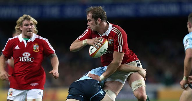 Alun Wyn Jones: Pleased with the Lions' ruthless approach