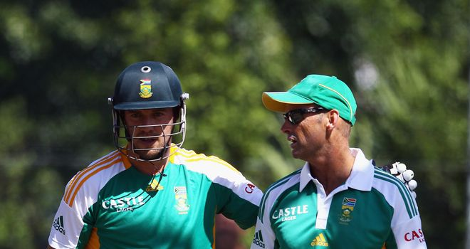 AB de Villiers (L): Looking to give 'mentor' Gary Kirsten a great send-off