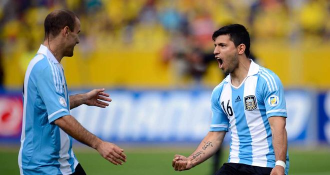 Sergio Aguero: On target for his country