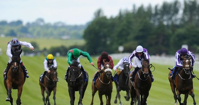 Ambivalent (left) makes all to win last year's Pretty Polly Stakes.