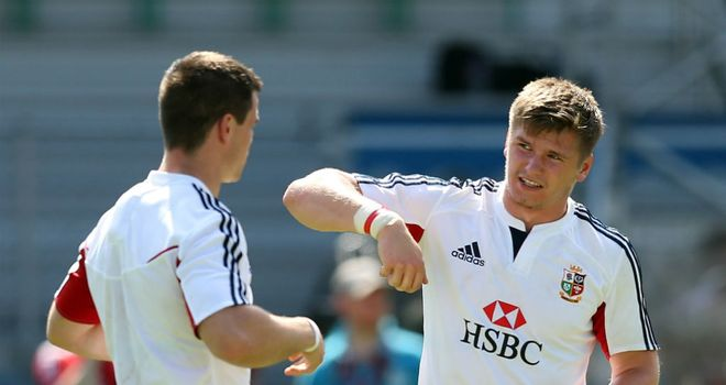 Johnny Sexton and Owen Farrell: Lions colleagues