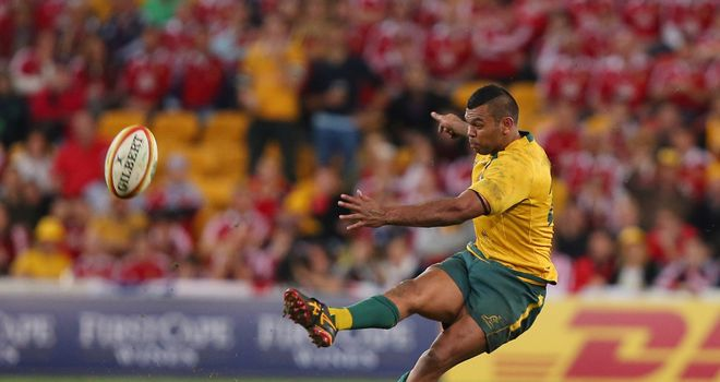 Kurtley Beale: Slipped while attempting what would have been a match-winning penalty