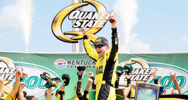 Matt Kenseth: came on strong late on at Kentucky Speedway