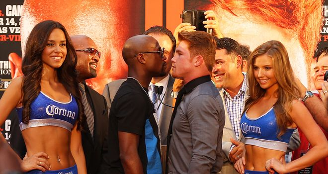 Floyd Mayweather and Saul Alvarez: Off on an 11-city promotional tour