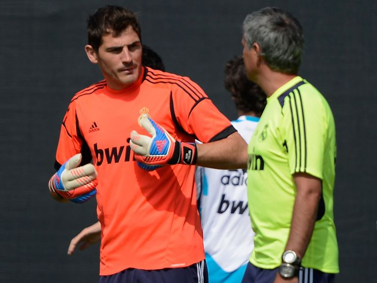 Iker Casillas and Jose Mourinho on tour in the States last year