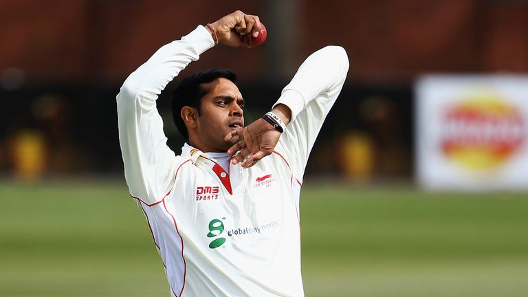 Jigar Naik: Leicestershire spinner sidelined for at least four months by dislocated shoulder