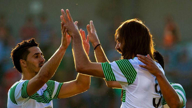 Beram Kayal and Georgios Samaras: The duo celebrate Celtic's second goal