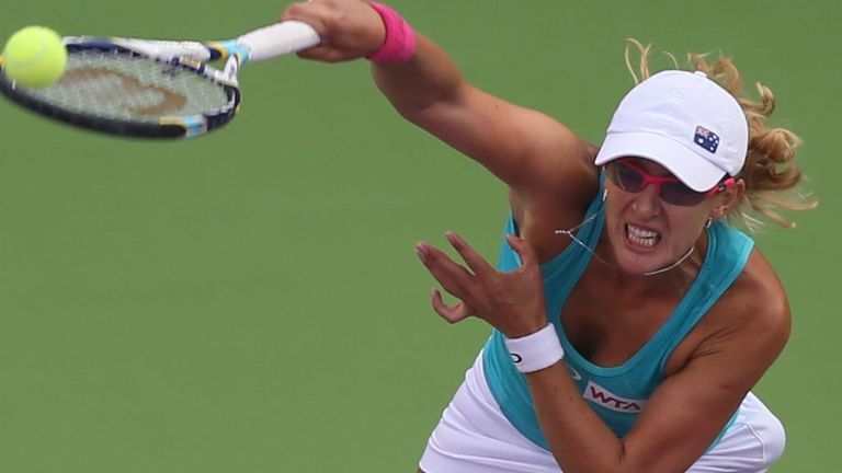 Anastasia Rodionova whose defeat ended her team's 34-match winning streak in World Team Tennis
