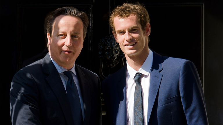 David Cameron: Welcomes Wimbledon winner Andy Murray to Downing Street
