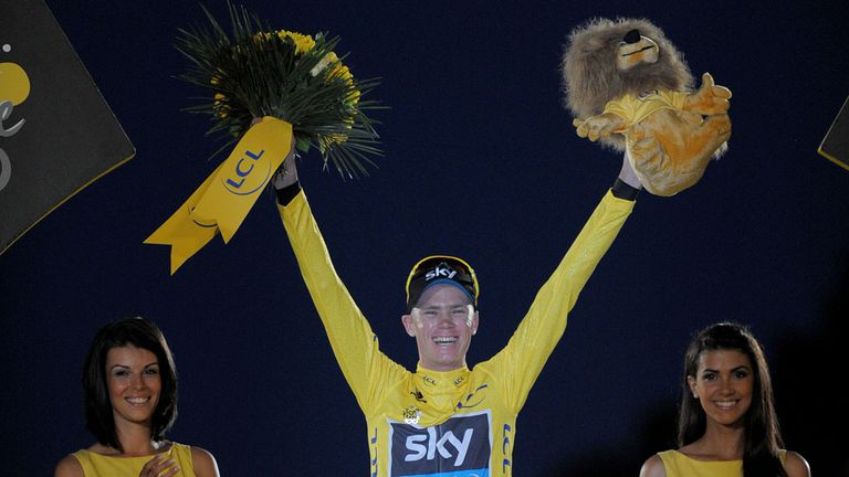 Chris Froome: Briton celebrates his Tour de France success