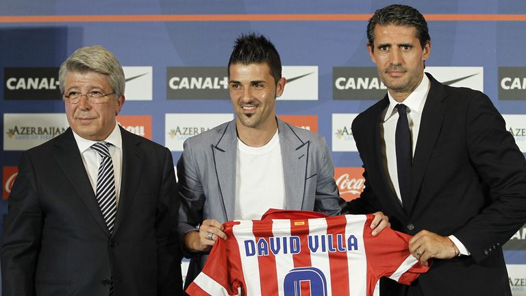 David Villa: Officially unveiled by Atletico Madrid on Monday