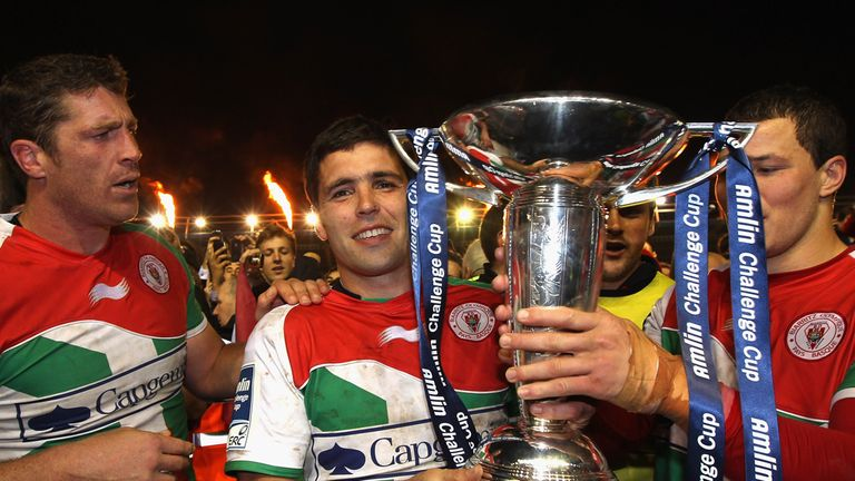 Biarritz, pictured after their 2012 success, will travel to Sale in round one of the Amlin Challenge Cup