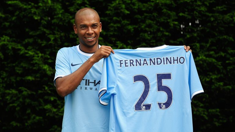 Fernandinho: Unveiled by City on Wednesday