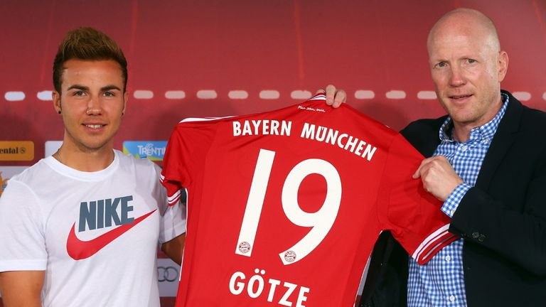 Mario Gotze: Has been unveiled by Bayern Munich