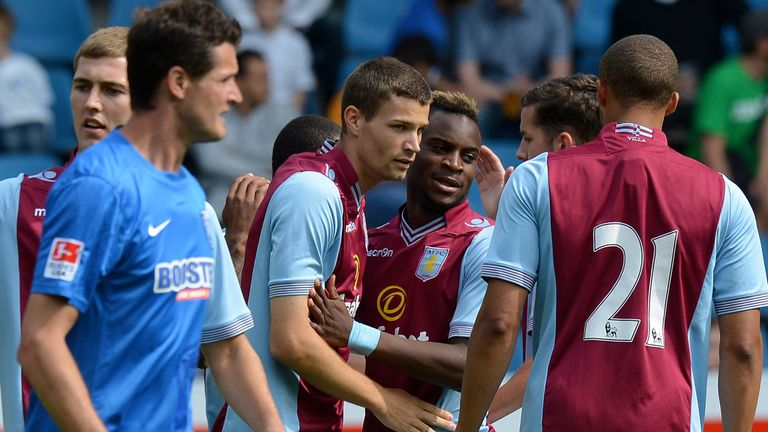 Nicklas Helenius: Another goal for Aston Villa's new striker