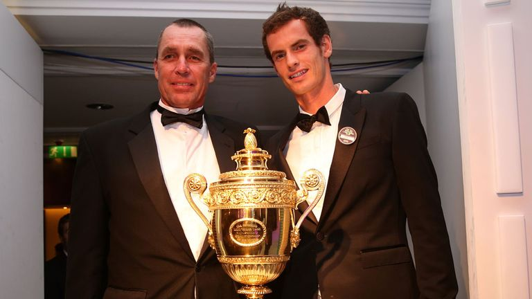 Ivan Lendl and Andy Murray: With the Wimbledon trophy