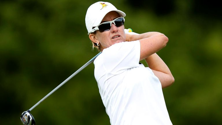 Karrie Webb: Shot a 70 to move to 11-under at the Tanah Merah Country Club
