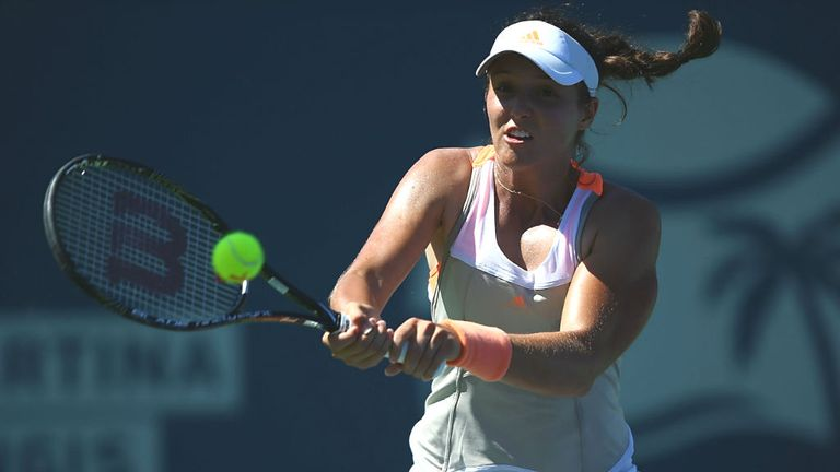 Laura Robson: Was made to sweat against Ayumi Morita in California