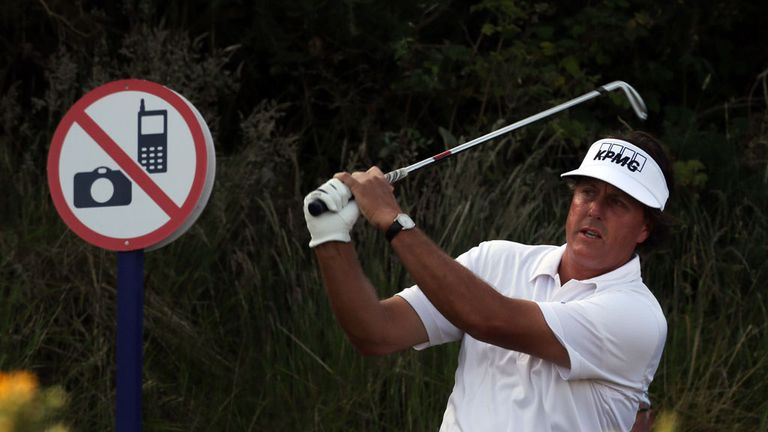 Phil Mickelson: Just two shots back after opening day at Castle Stuart