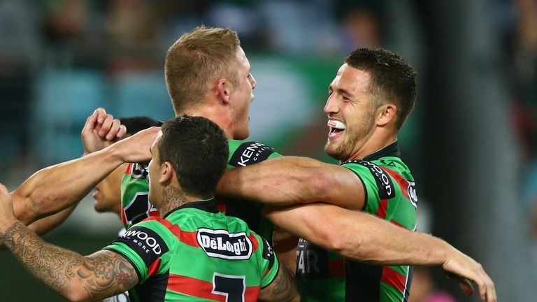 George (left) and Sam (right) Burgess: Will hope to be joined by brothers Luke and Tom in the Rabbitohs line-up soon