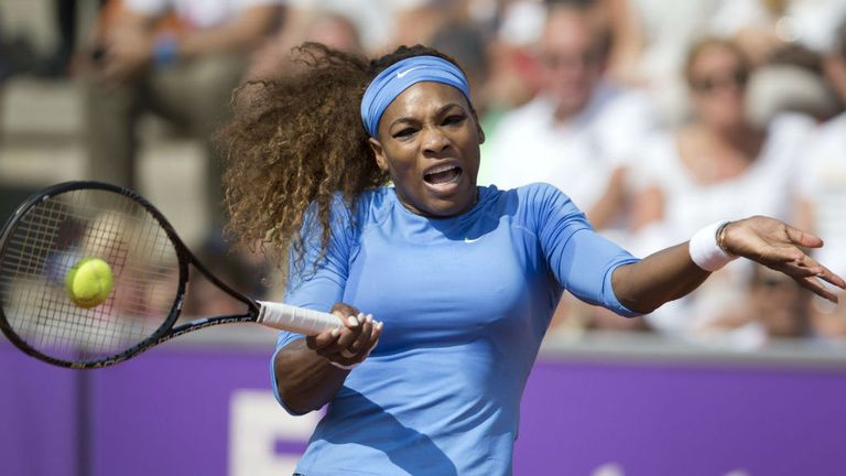 Serena Williams: The top seed brushed Lourdes Dominguez Lino aside