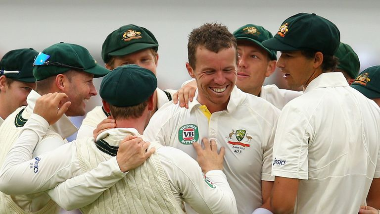 Peter Siddle: Took five wickets to dismiss England for a disappointing 215