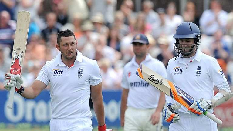 Tim Bresnan (L): Unbeaten century, but only one wicket at Essex