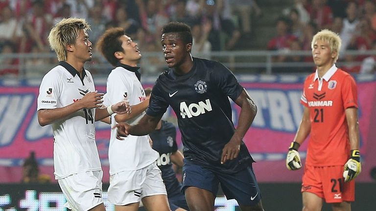 Wilfried Zaha: Celebrates after earning United a late draw