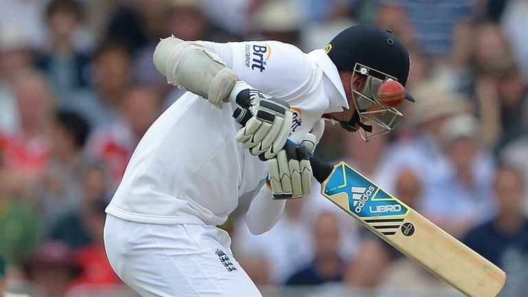 Stuart Broad under attack on the opening day of the Ashes at Trent Bridge