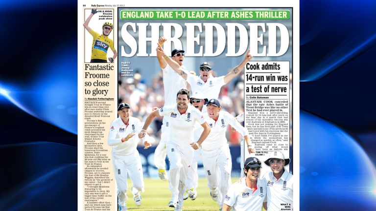 Daily Express - Alastair Cook conceded that the epic Ashes battle of Trent Bridge was like no other Test he had ever played in.