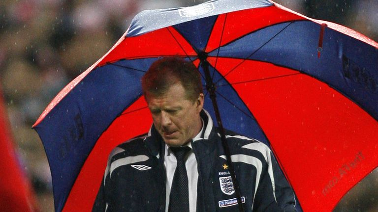 England failed to qualify for Euro 2008 under Steve McClaren
