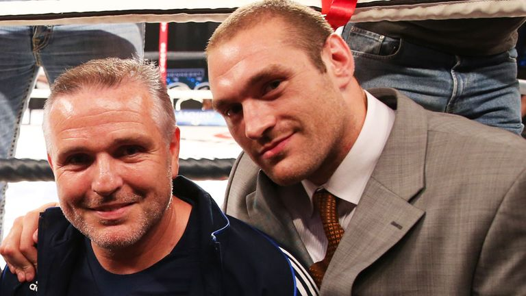 Peter Fury (l) has been overseeing Tyson Fury's preparations.