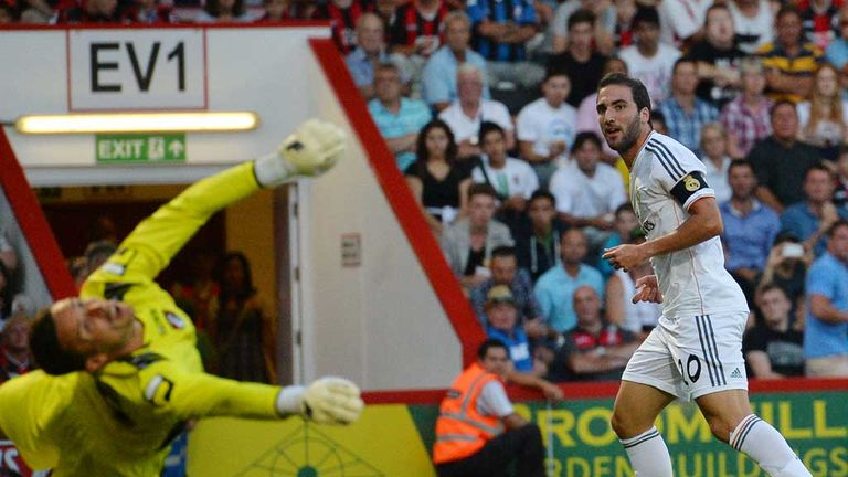 Gonzalo Higuain: Real Madrid striker finds the net in Bournemouth