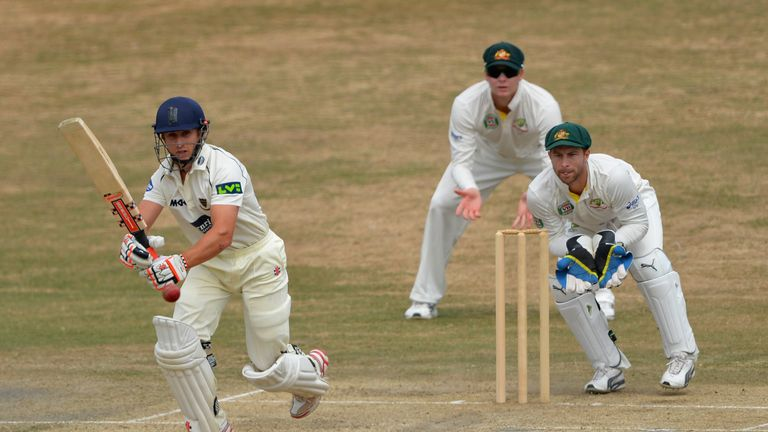 James Taylor: Nottinghamshire batsman reached 64 not out before rain stopped play at Hove