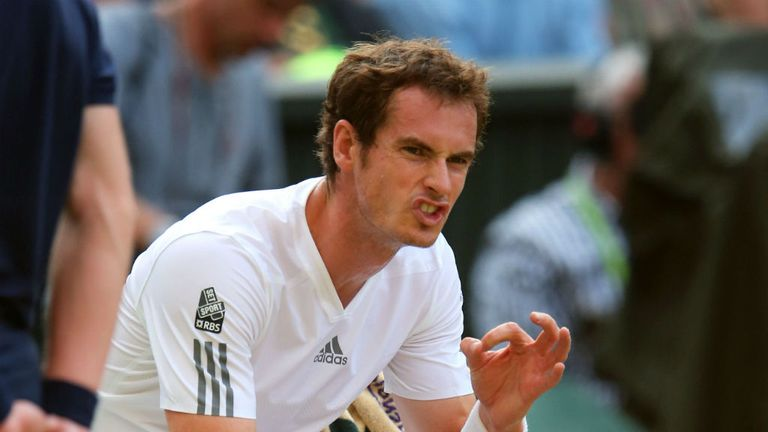 Andy Murray: Looking to end Britain's 77-year wait for a men's singles Wimbledon winner