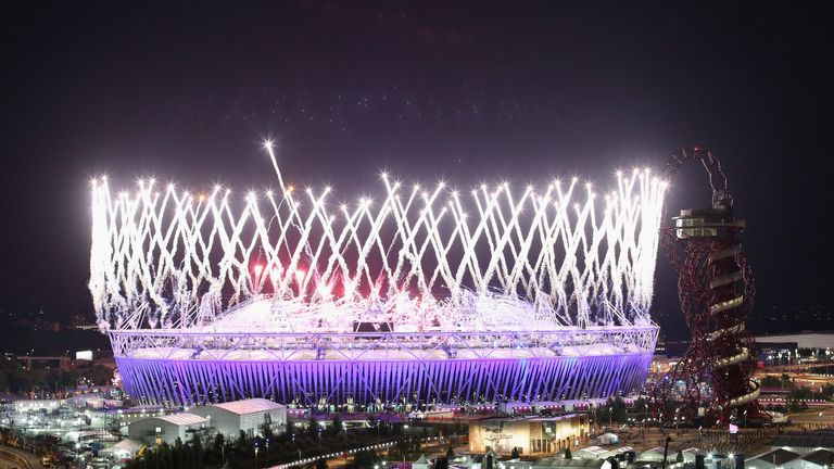 The Olympic Stadium during the 2012 Games
