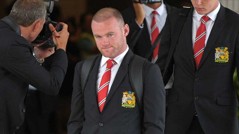 Wayne Rooney: Flying back to England after sustaining an injury earlier this week