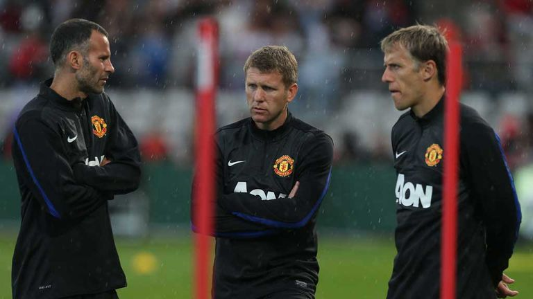 Steve Round: Manchester United assistant manager with Ryan Giggs and Phil Neville