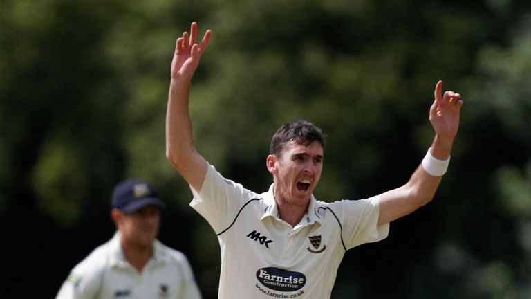 Steve Magoffin: Sussex seamer recorded match figures of 8-101 to help the visitors to victory