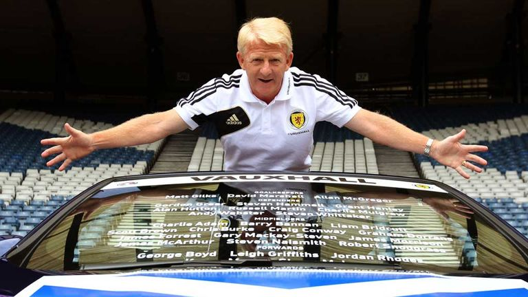 Gordon Strachan: Scotland boss unveils his squad for the England game
