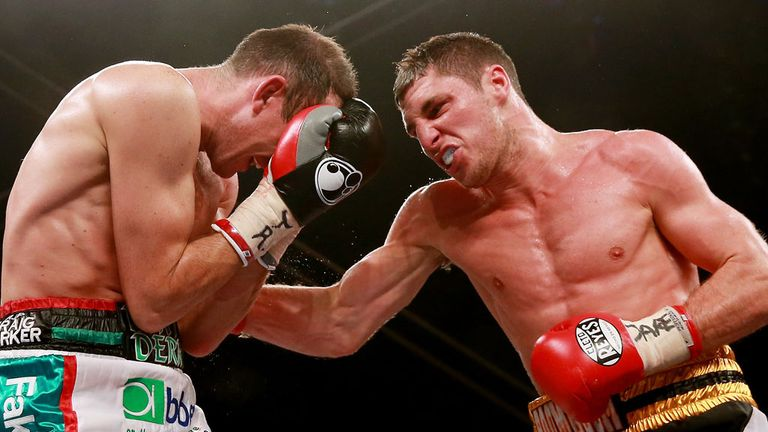 Tommy Coyle (R) was on the front foot throughout his fight with Derry Mathews